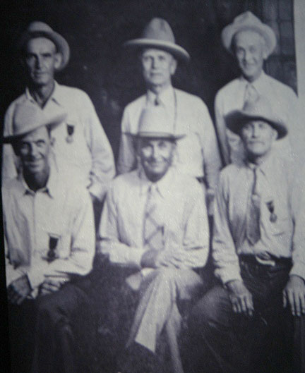 Back Row: Harry Reed, Lou Grill, Dale Wilder • Front Row: Sid Vollin, Charlie Wiley, Montana Bill Roberts.