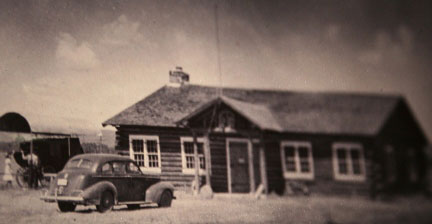 The original building as it looked in the early 1940's.