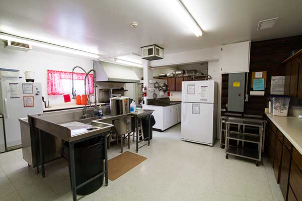 The kitchen attached to Memorial Hall.